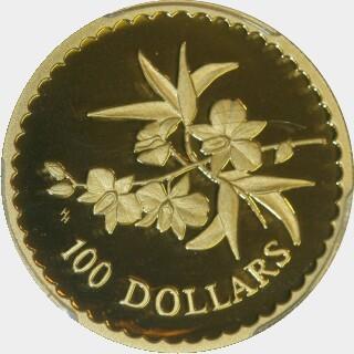 2000 Proof One Hundred Dollar reverse
