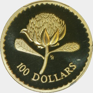 1995 Proof One Hundred Dollar reverse