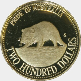 1994 Proof Two Hundred Dollar reverse