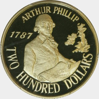 1987 Proof Two Hundred Dollar reverse
