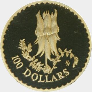 1998 Proof One Hundred Dollar reverse