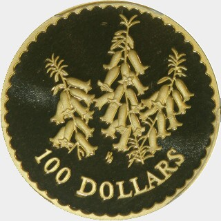 1999 Proof One Hundred Dollar reverse
