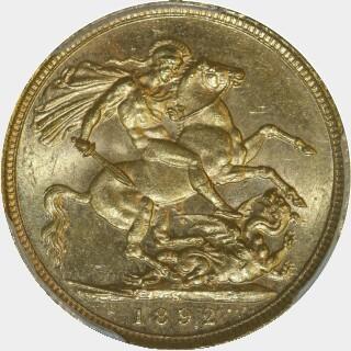 1892-S  Full Sovereign reverse