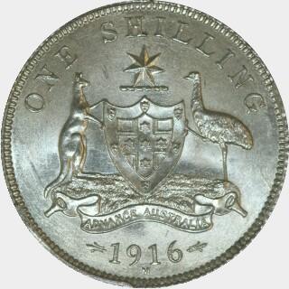1916-M Specimen Shilling reverse