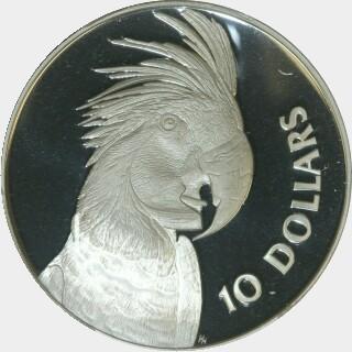 1993 Proof Ten Dollar reverse