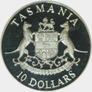 1991 Proof Ten Dollar reverse
