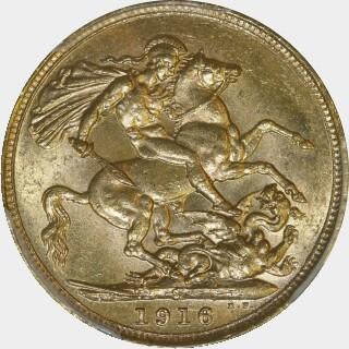 1916-S  Full Sovereign reverse