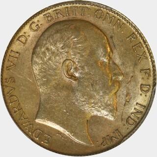 1908-P  Half Sovereign obverse