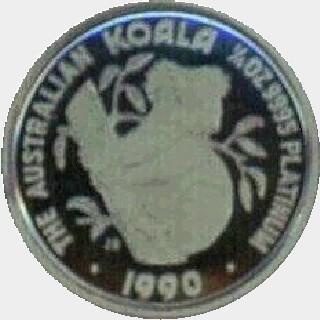 1991-P Platinum Twenty Five Dollar reverse