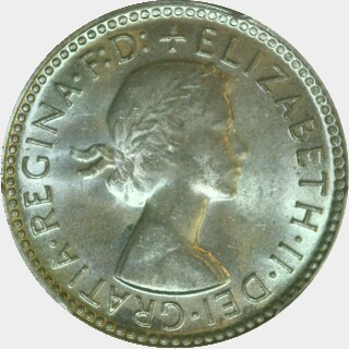 1961  Sixpence obverse