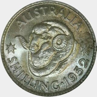 1952  Shilling reverse