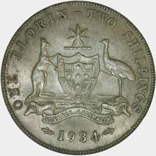 1934  Florin reverse
