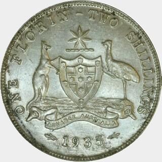 1935  Florin reverse