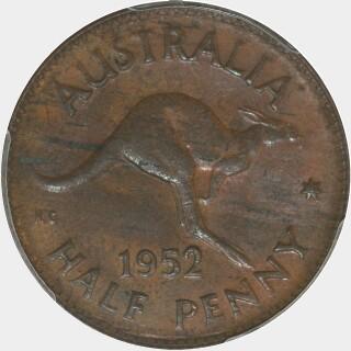 1952-A  Half Penny reverse
