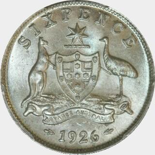 1926  Sixpence reverse