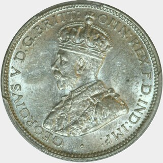 1927  Sixpence obverse
