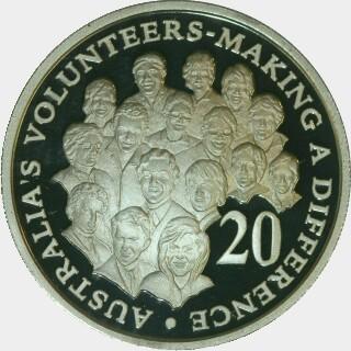 2003 Silver Proof Twenty Cent reverse