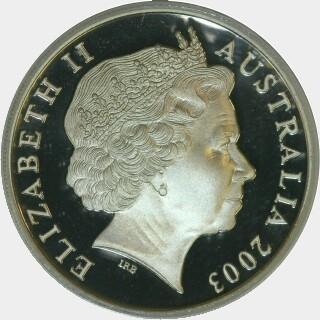 2003 Silver Proof Twenty Cent obverse