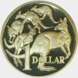 1990 Proof One Dollar reverse