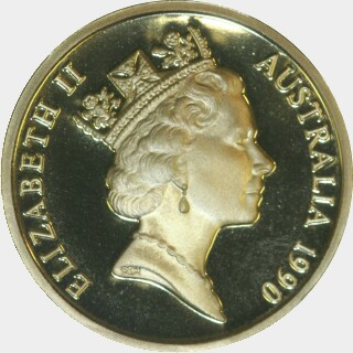 1990 Proof One Dollar obverse