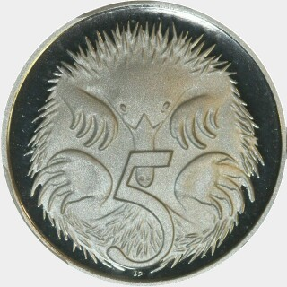 2006 Proof Five Cent reverse