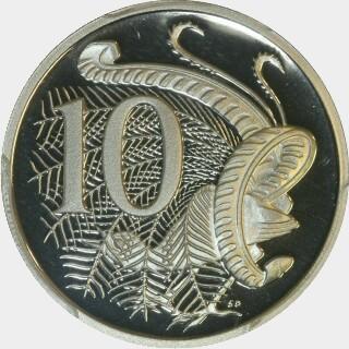 1990 Proof Ten Cent reverse
