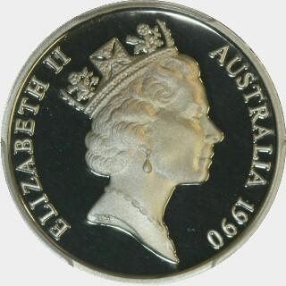 1990 Proof Ten Cent obverse