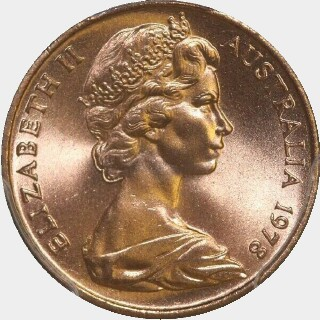 1978  One Cent obverse