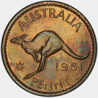 1951-PL Proof Penny reverse