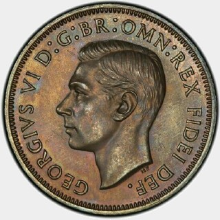 1951-PL Proof Half Penny obverse