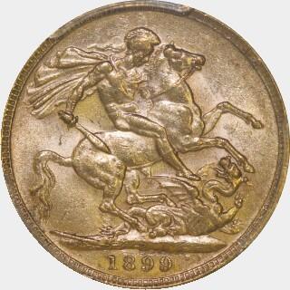 1899-P  Full Sovereign reverse