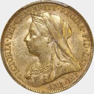 1899-P  Full Sovereign obverse
