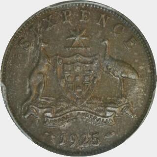 1925  Sixpence reverse
