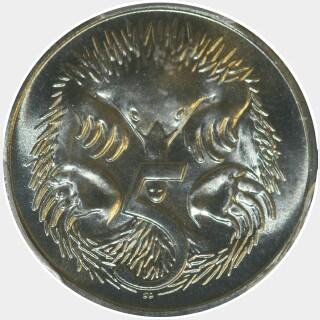 1986  Five Cent reverse