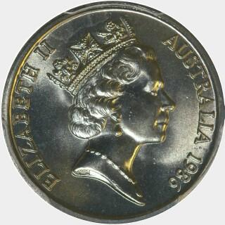 1986  Five Cent obverse