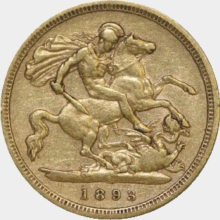1893-S  Half Sovereign reverse