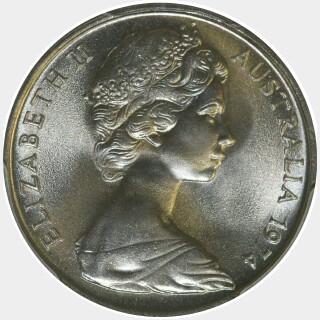 1974  Five Cent obverse
