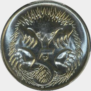 1992  Five Cent reverse