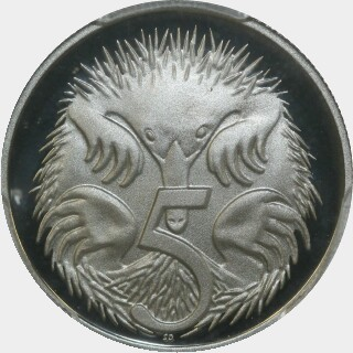 2003 Proof Five Cent reverse