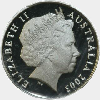 2003 Proof Five Cent obverse