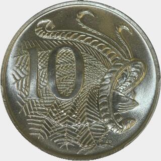 1971  Ten Cent reverse