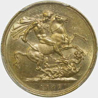 1887-S Wide JEB Full Sovereign reverse