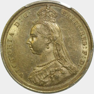 1887-S Wide JEB Full Sovereign obverse
