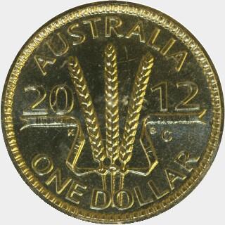 2012-C  One Dollar reverse