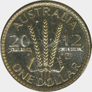 2012-M  One Dollar reverse