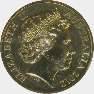 2012-M  One Dollar obverse