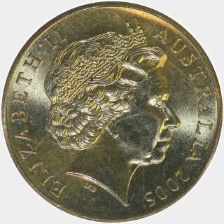 2005-S  One Dollar obverse