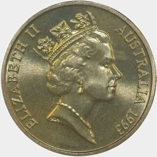 1993-C  One Dollar obverse
