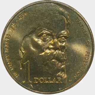 1996-M  One Dollar reverse