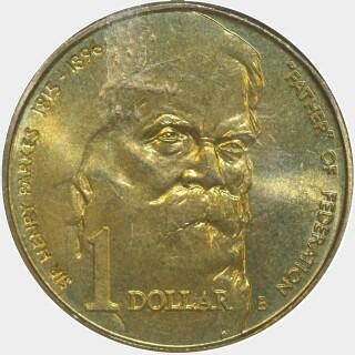 1996-B  One Dollar reverse